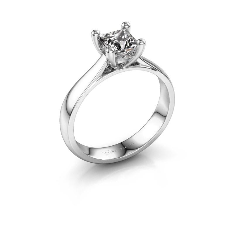 Bague de fiançailles Sam Square 950 platine diamant 1.00 crt