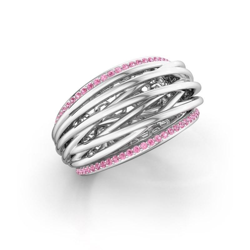 Ring Kirstin 950 Platin Pink Saphir 1 mm