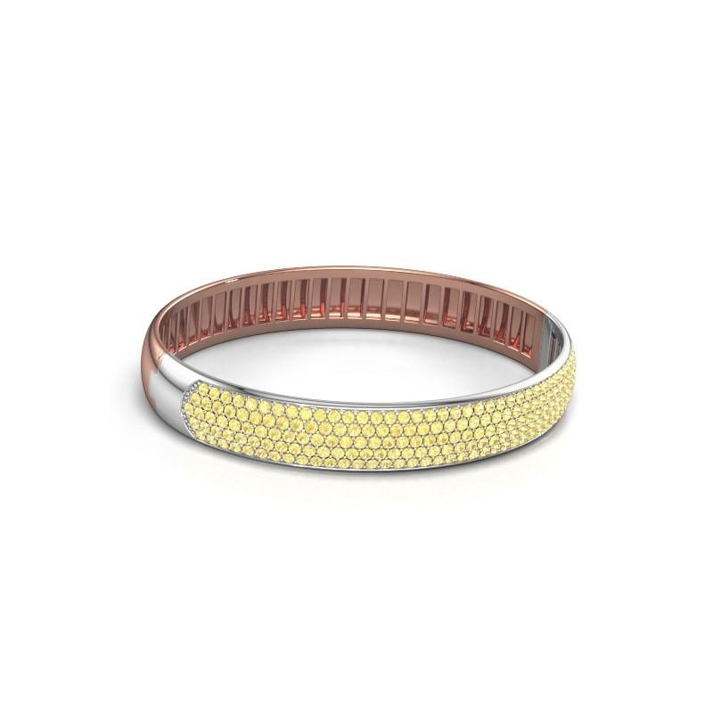 Slavenarmband Emely 10mm 585 rosé goud gele saffier 1.7 mm