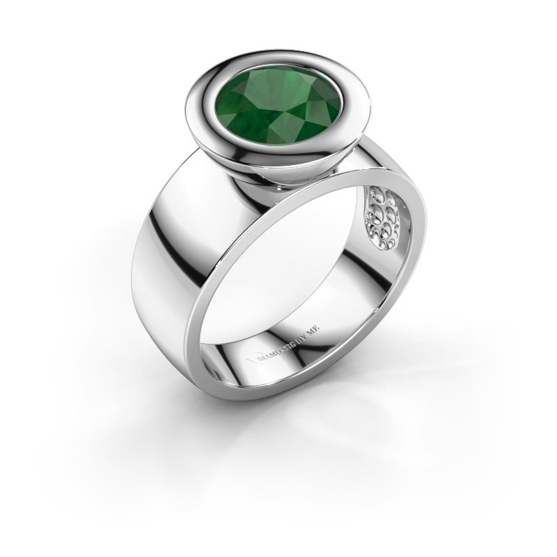Ring Maxime 925 silver emerald 8 mm