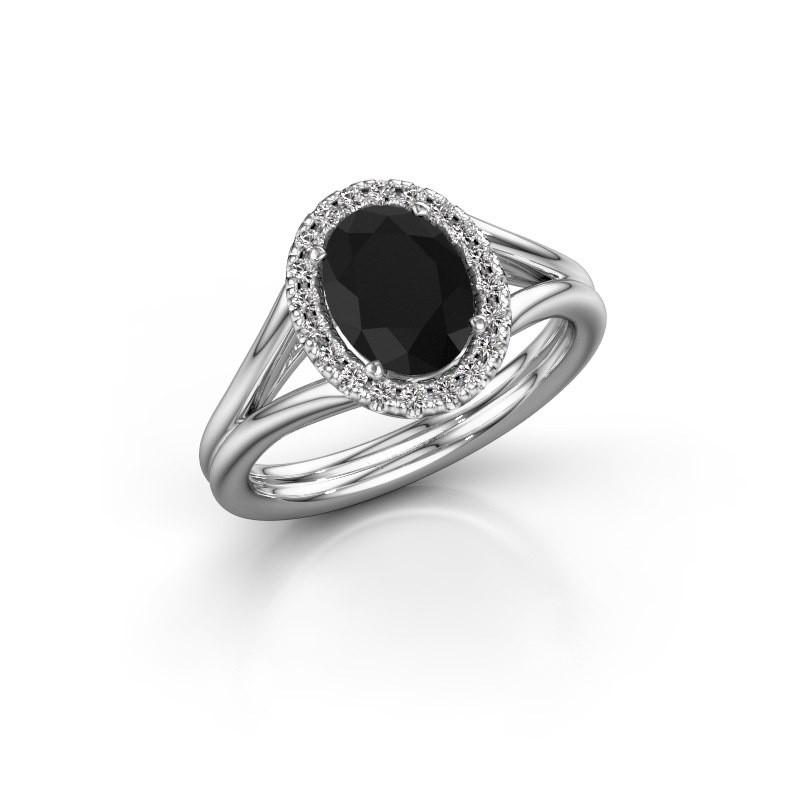 Engagement ring Rachele 1 585 white gold black diamond 1.530 crt