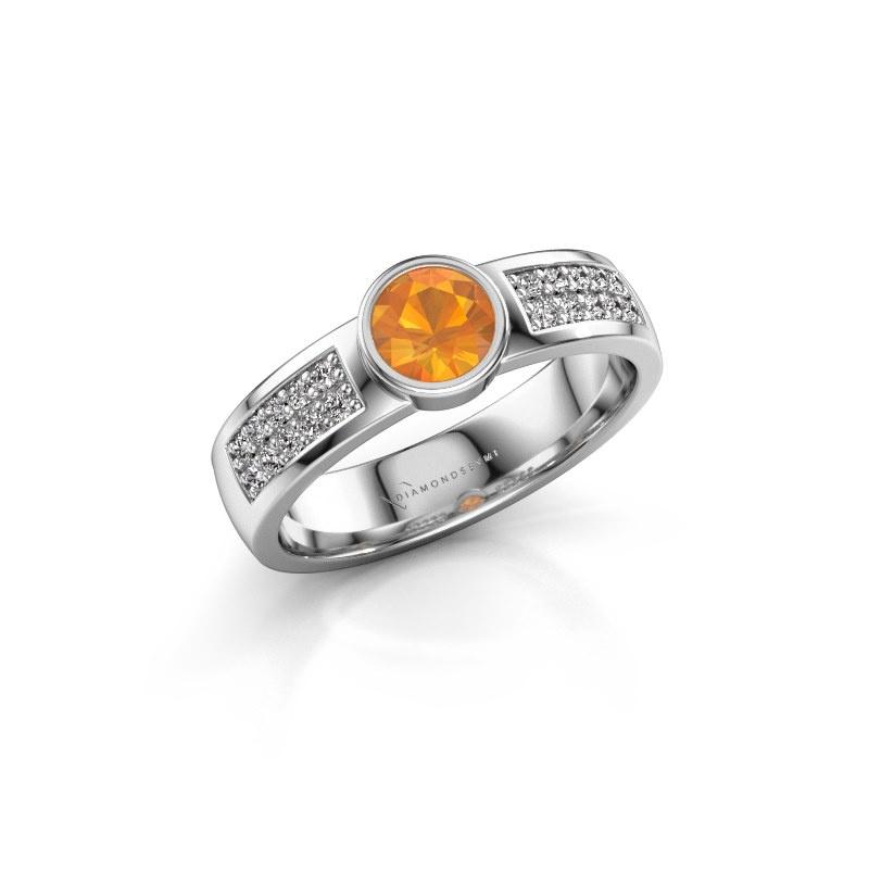 Engagement ring Ise 3 950 platinum citrin 4.7 mm