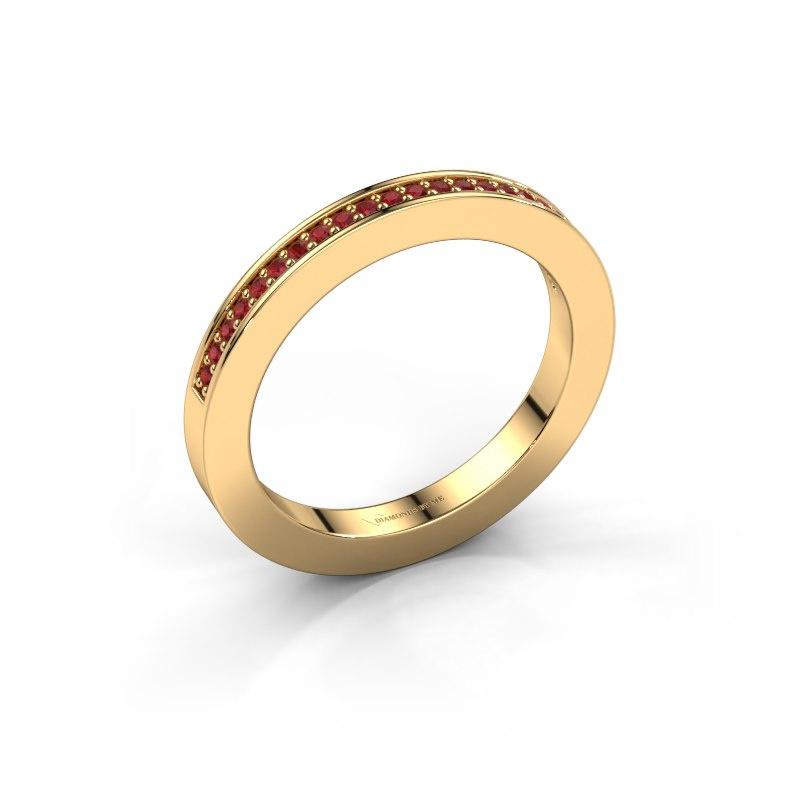 Aanschuifring Loes 2 585 goud robijn 1.1 mm