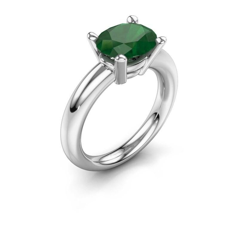 Ring Janiece 925 Silber Smaragd 10x8 mm