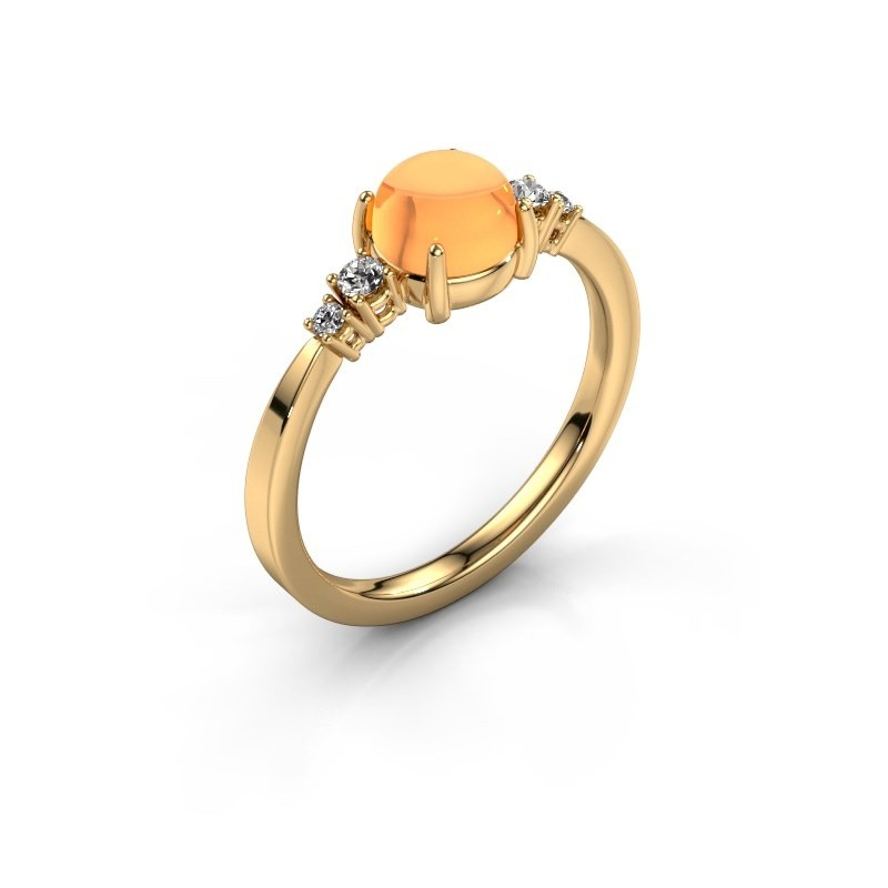 Ring Regine 585 goud citrien 6 mm