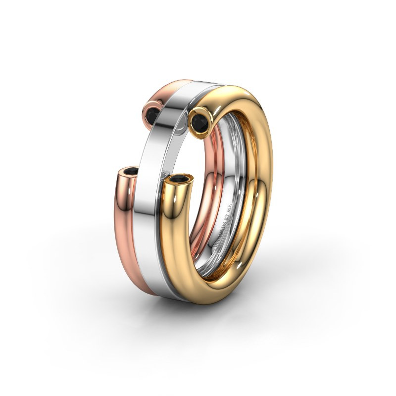 Ehering WH6018L 585 Gold Schwarz Diamant ±8x3 mm