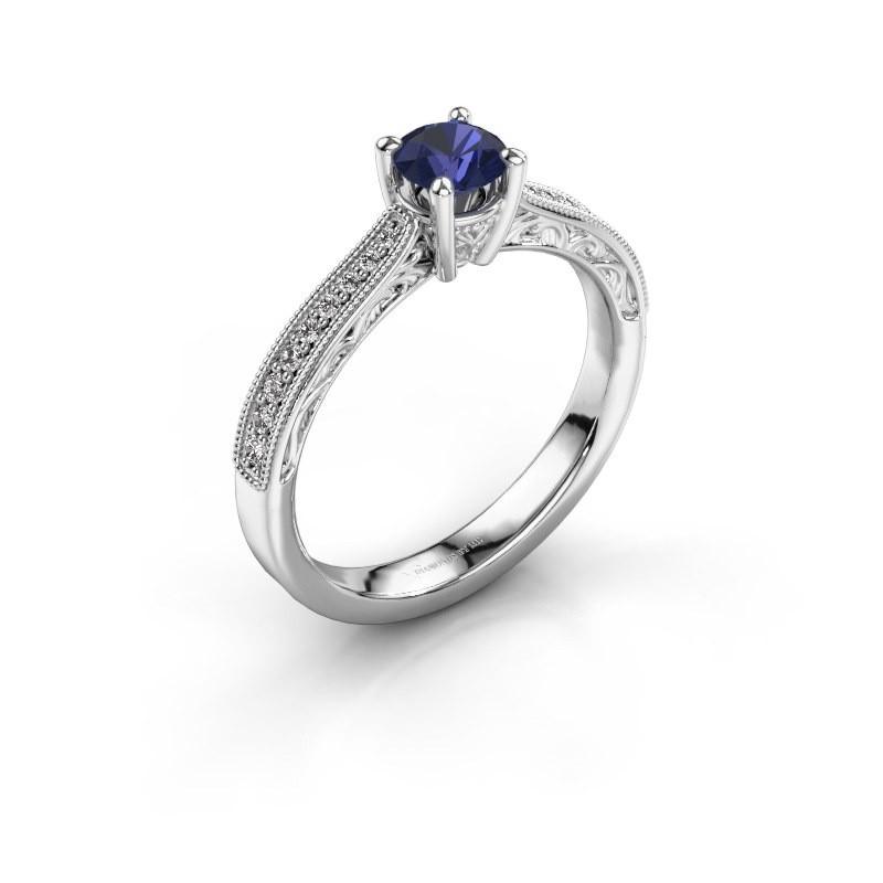 Belofte ring Shonta RND 925 zilver saffier 4.7 mm