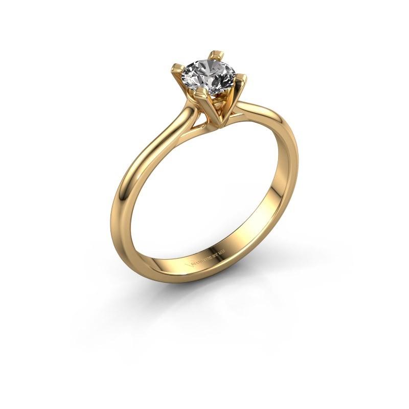 Verlovingsring Isa 1 375 goud diamant 0.40 crt