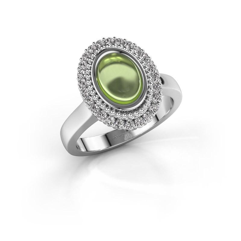 Ring Maartje 925 zilver peridoot 8x6 mm