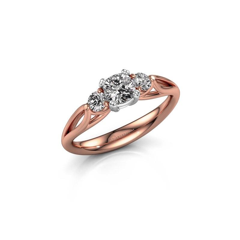 Verlobungsring Amie cus 585 Roségold Diamant 0.70 crt