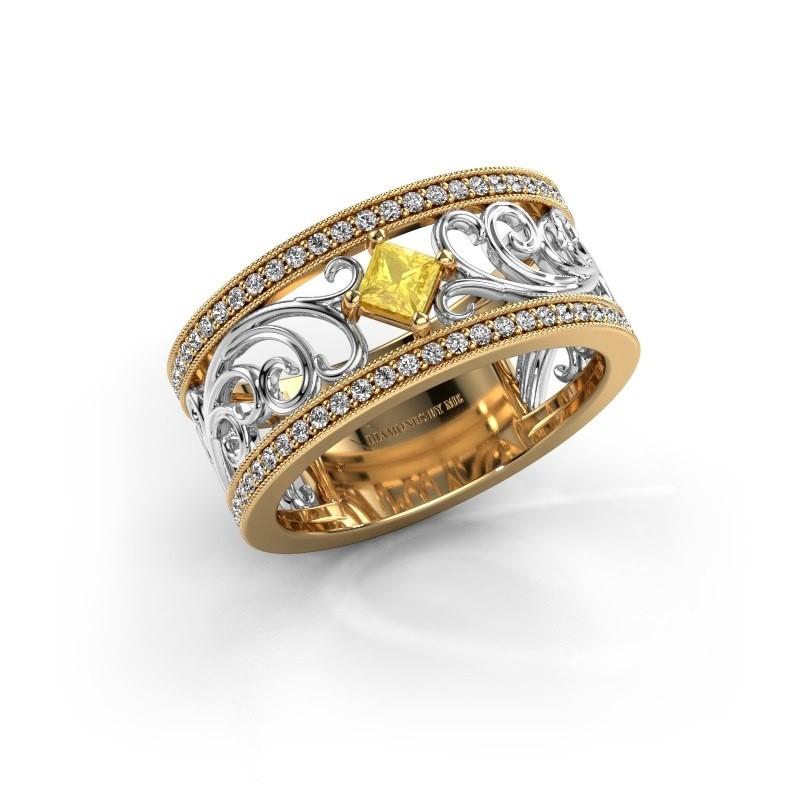 Ring Danae 585 goud gele saffier 3 mm