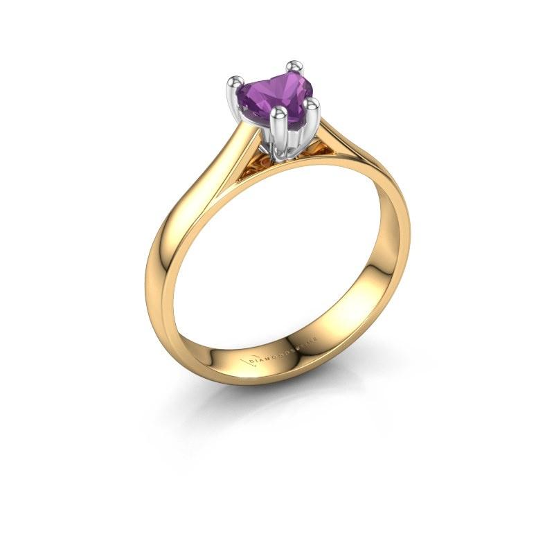 Engagement ring Sam Heart 585 gold amethyst 5 mm