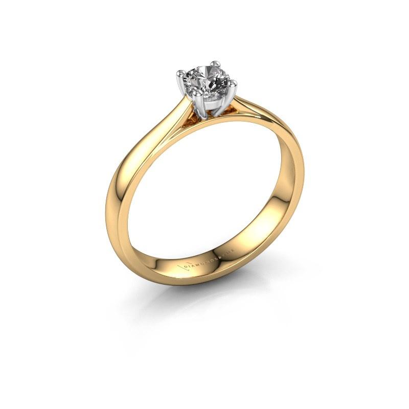Bague de fiançailles Sam 585 or jaune diamant 0.30 crt