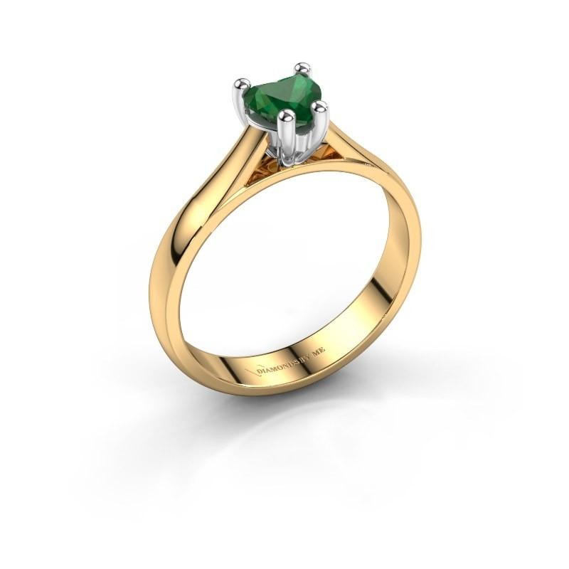 Verlobungsring Sam Heart 585 Gold Smaragd 5 mm