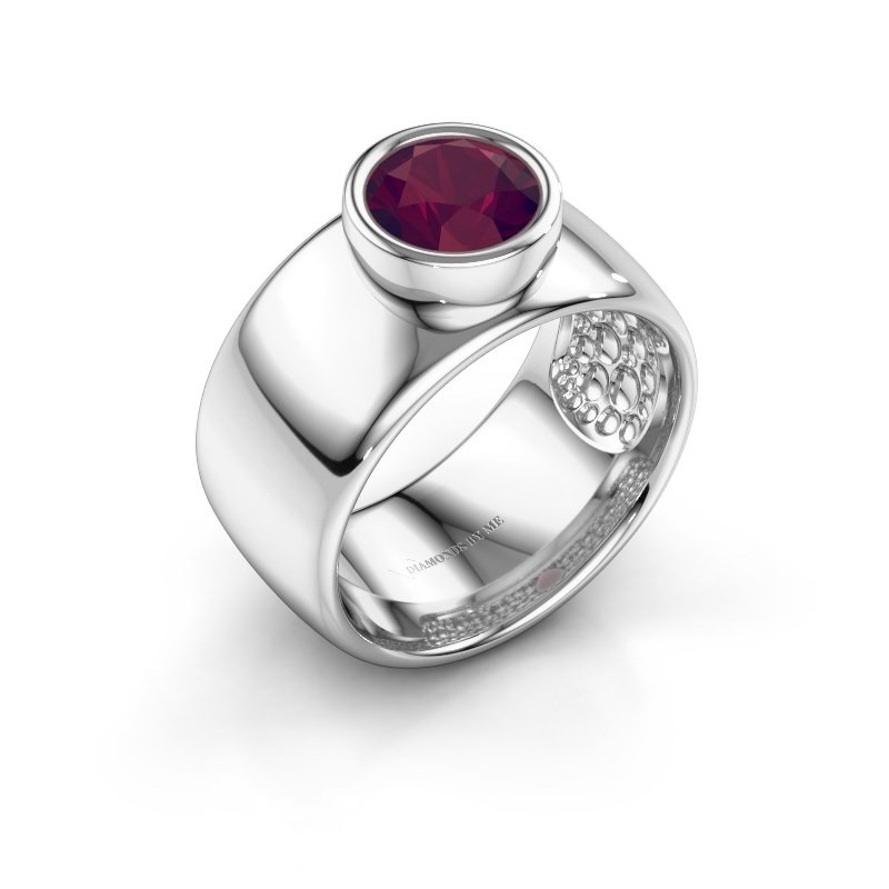 Ring Klarinda 925 silver rhodolite 7 mm