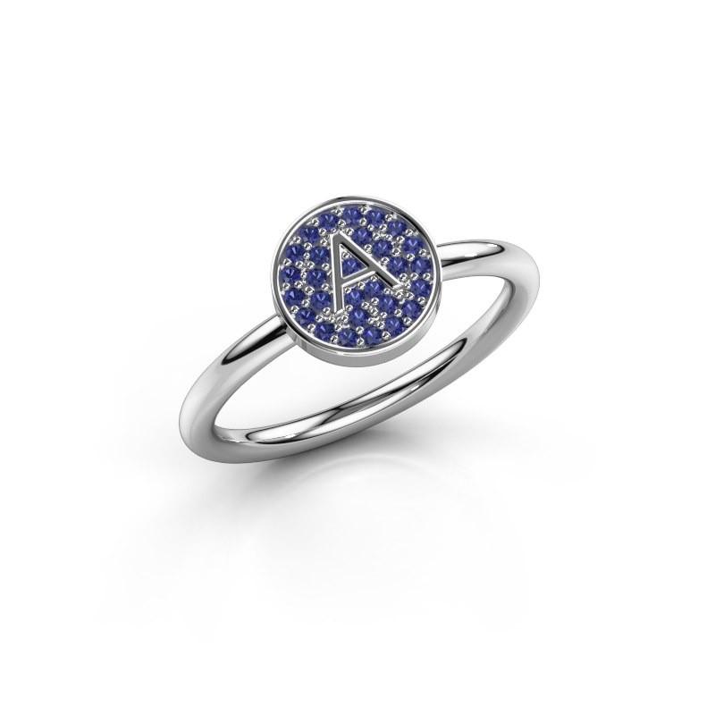 Bague Initial ring 021 950 platine