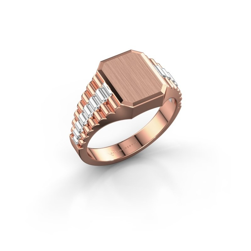 Signet ring Erik 1 585 rose gold