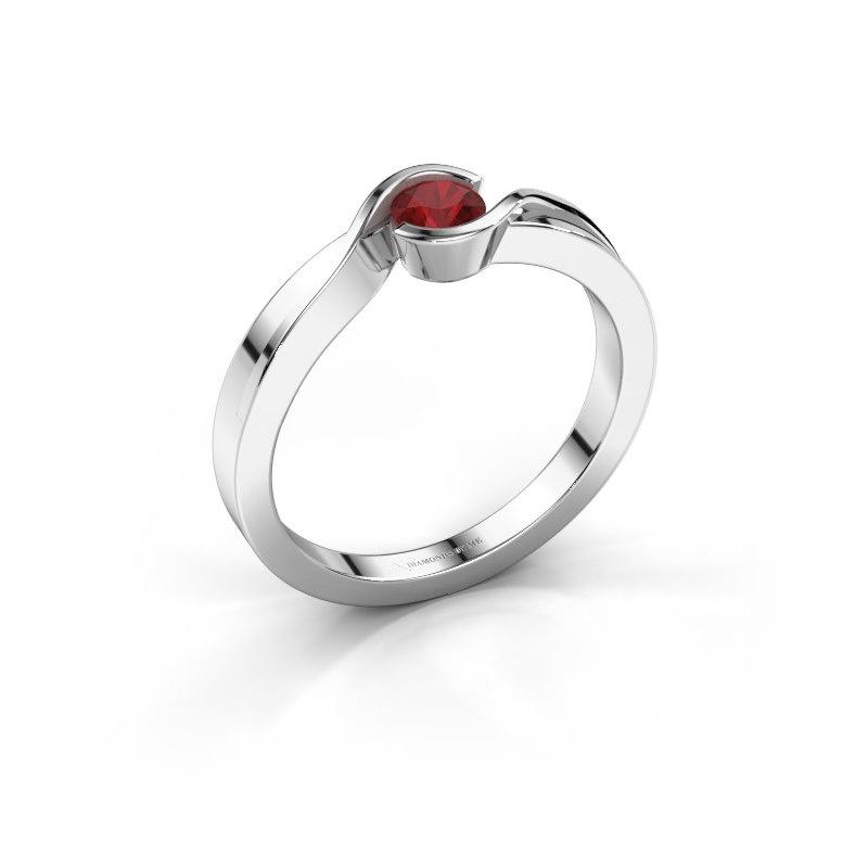 Ring Lola 925 Silber Rubin 4 mm