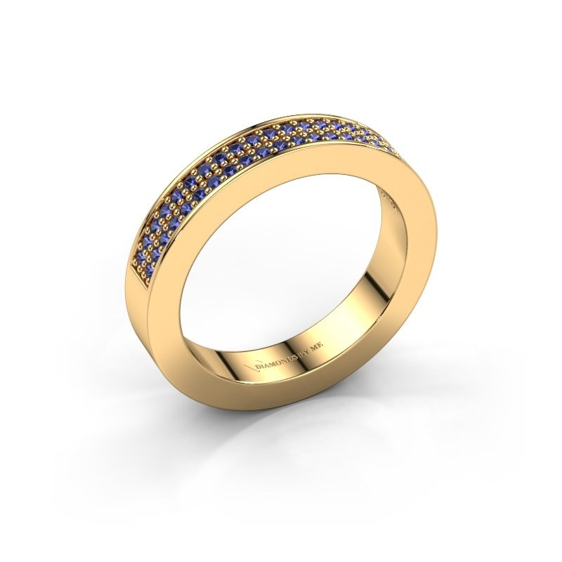 Stackable ring Catharina 2 585 gold sapphire 1.1 mm