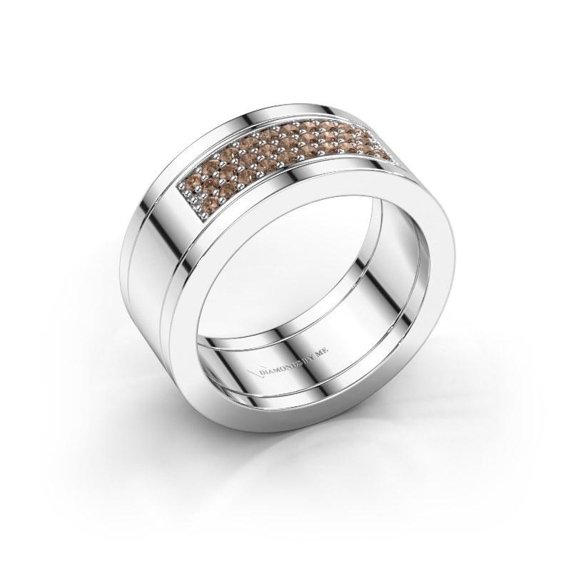 Ring Marita 3 925 zilver bruine diamant 0.29 crt