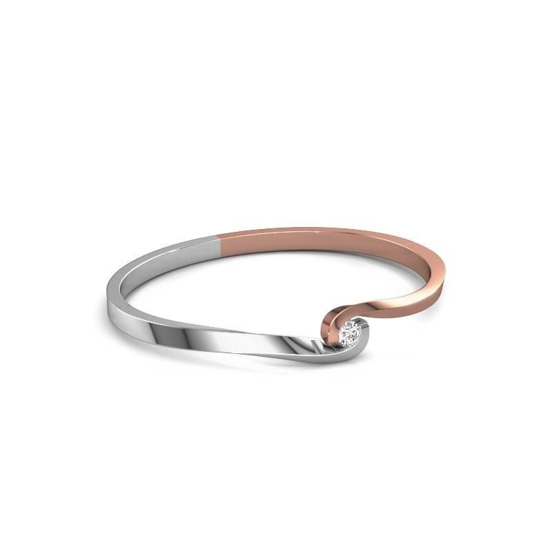 Slavenarmband Sheryl 585 rosé goud diamant 0.40 crt