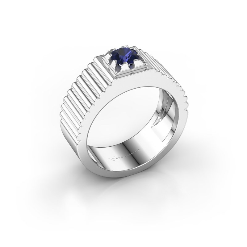 Pink ring Elias 585 witgoud saffier 5 mm
