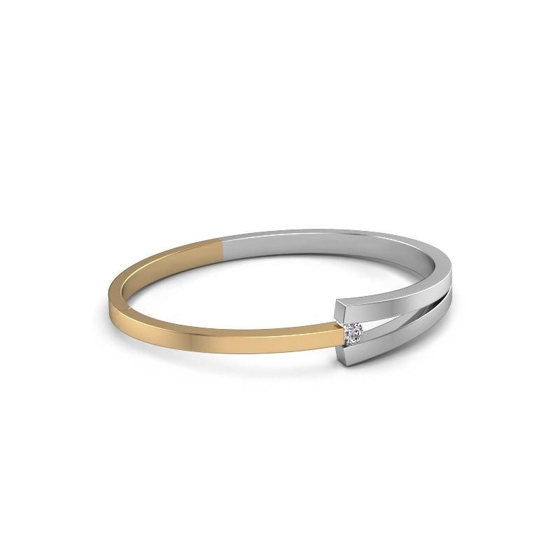 Slavenarmband Sofia 585 goud diamant 0.30 crt