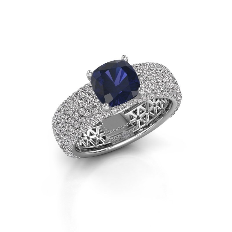 Engagement ring Darcy 585 white gold sapphire 7 mm