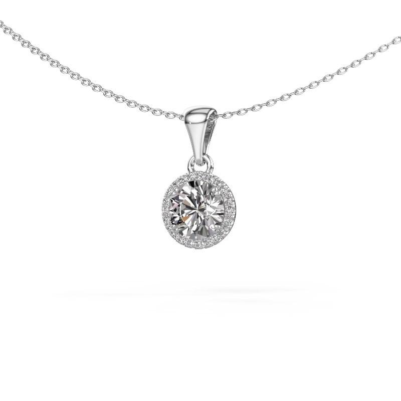 Anhänger Seline rnd 585 Weißgold Diamant 1.11 crt