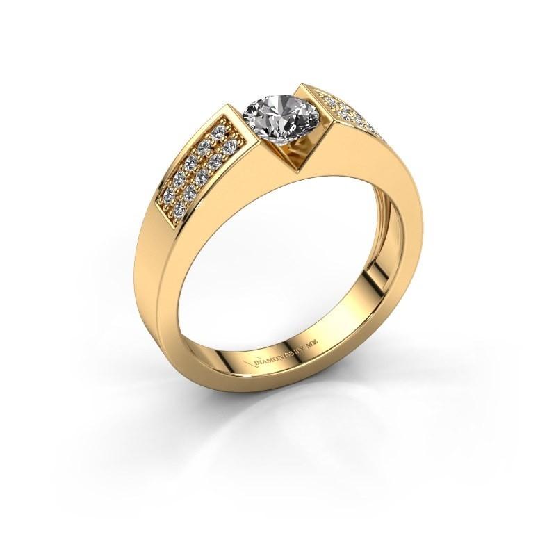 Verlovingsring Lizzy 3 375 goud zirkonia 5 mm
