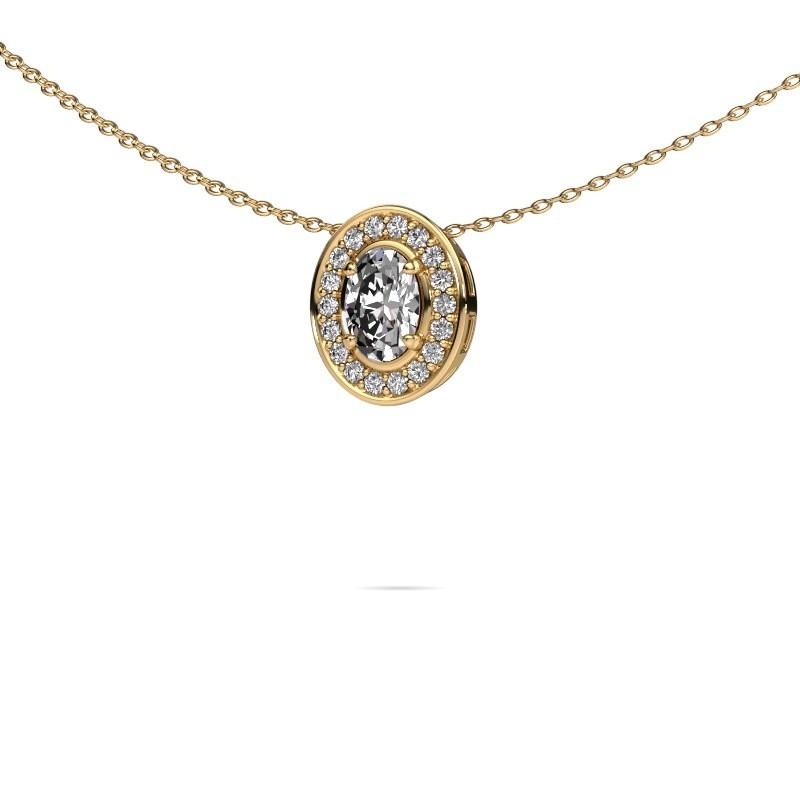 Ketting Madelon 375 goud lab-grown diamant 0.680 crt