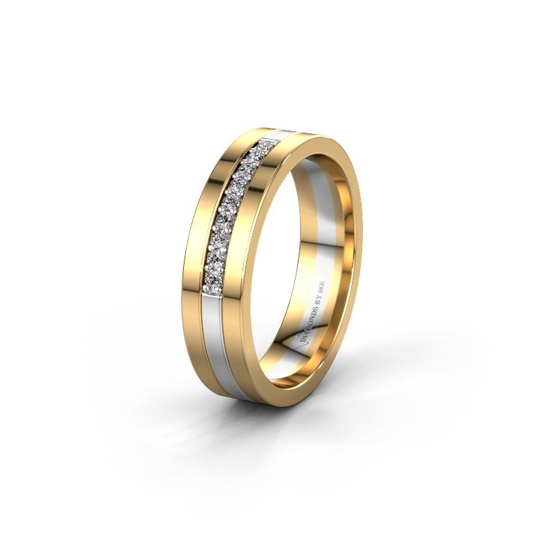 Trouwring WH0413L15AP 585 witgoud lab-grown diamant ±5x1.7 mm