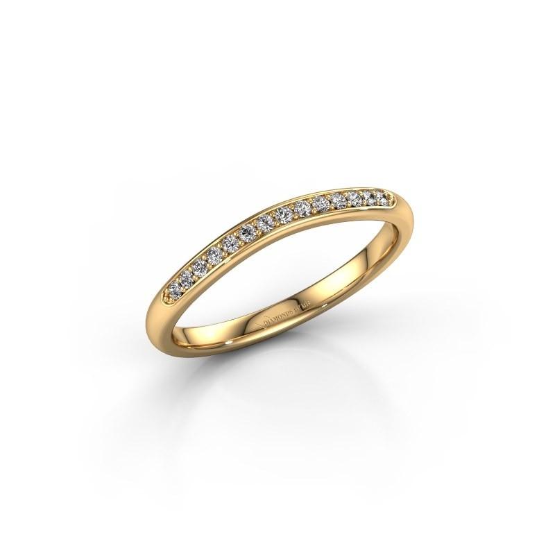 Aanschuifring SR20A4H 375 goud lab-grown diamant 0.113 crt
