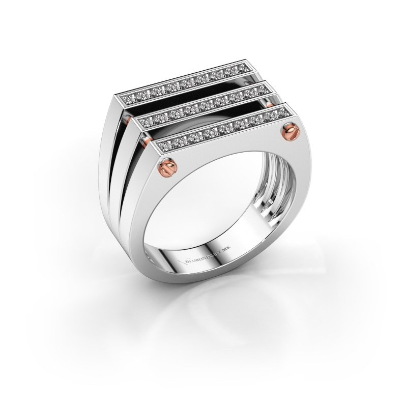Heren ring Jauke 585 witgoud diamant 0.48 crt
