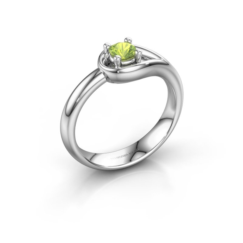Ring Fabienne 950 platinum peridot 4 mm