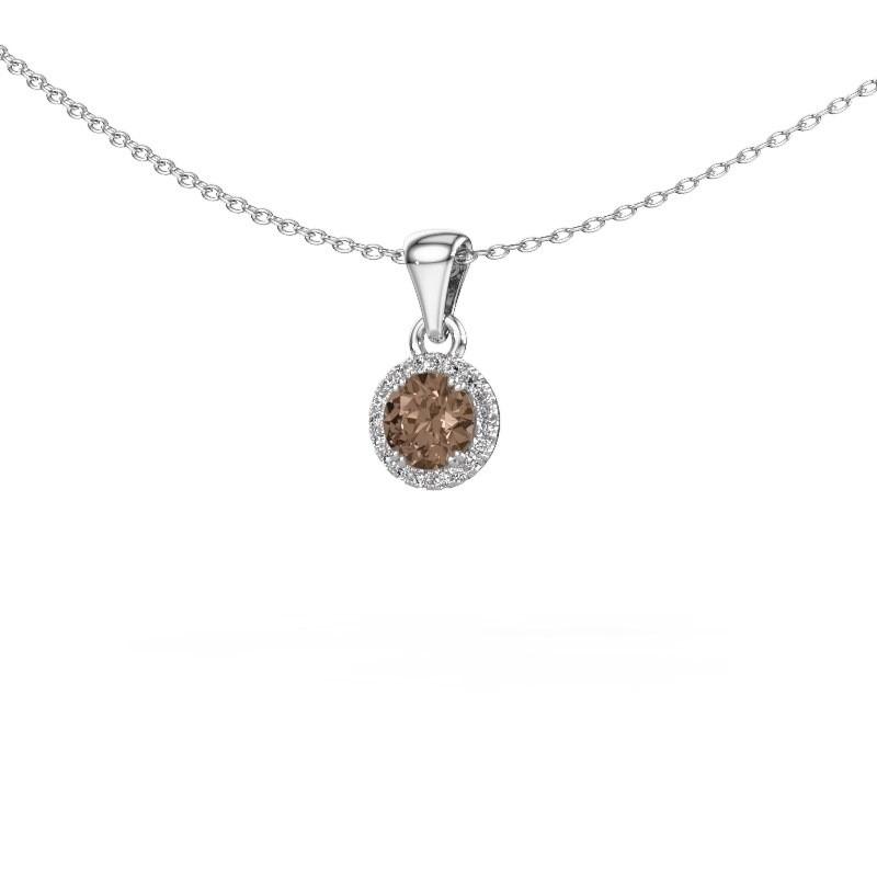 Hanger Seline rnd 925 zilver bruine diamant 0.48 crt