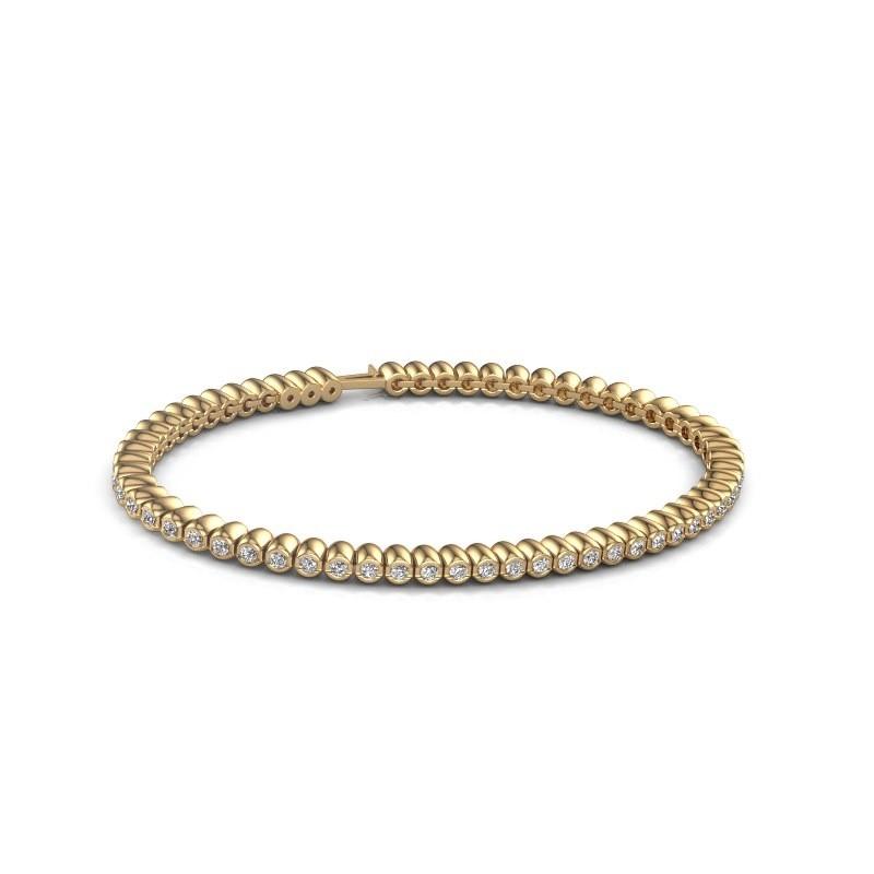 Tennisarmband Trix 375 goud zirkonia 2 mm