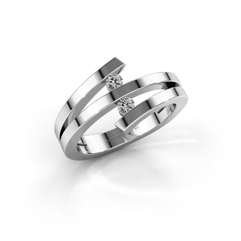 Ring Synthia 950 platina lab-grown diamant 0.12 crt