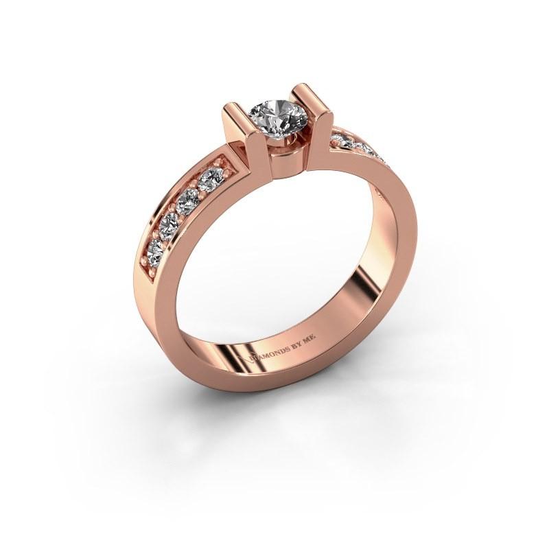 Verlovingsring Sofie 2 375 rosé goud diamant 0.30 crt
