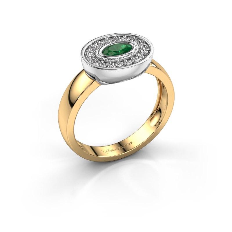 Ring Azra 585 Gold Smaragd 5x3 mm