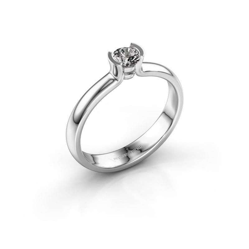 Engagement ring Ophelia 585 white gold zirconia 4 mm
