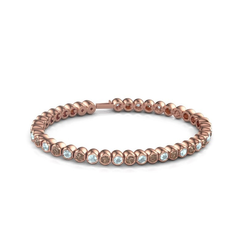 Tennisarmband Mellisa 375 rosé goud bruine diamant 7.200 crt