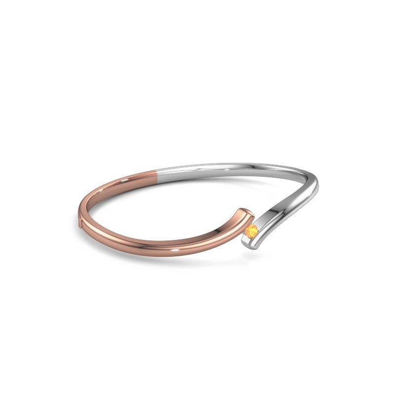 Slavenarmband Amy 585 rosé goud citrien 3.4 mm