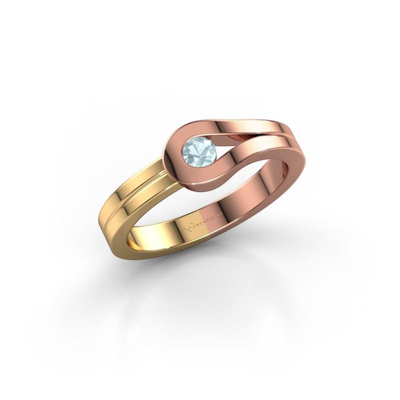 Ring Kiki 585 Roségold Aquamarin 3 mm