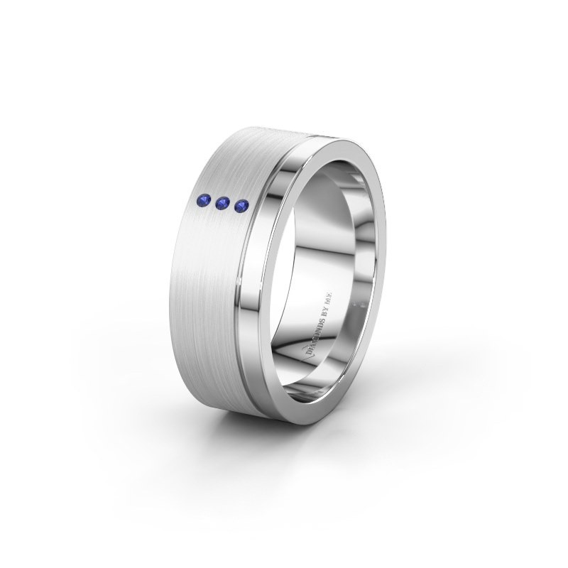 Wedding ring WH0325L17APM 925 silver sapphire ±7x1.7 mm