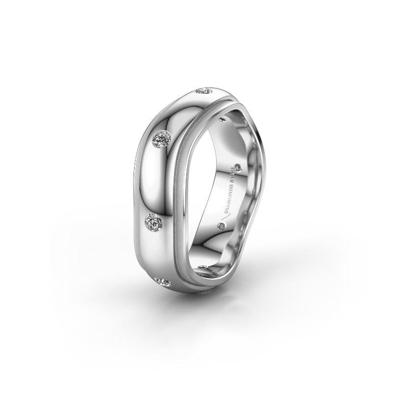 Trouwring WH2051L26DP 950 platina diamant ±6x2.4 mm