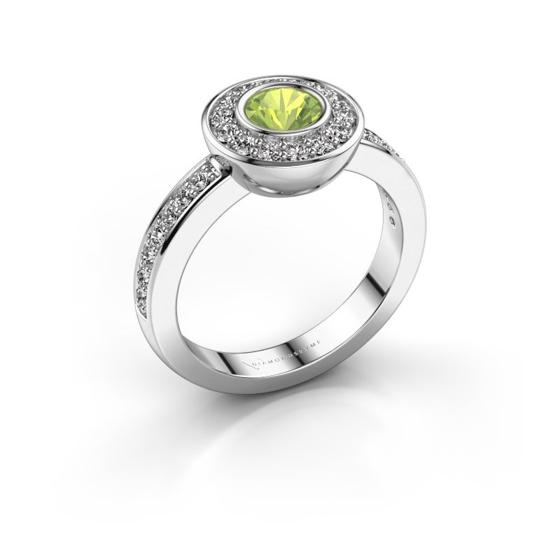 Ring Ivy 585 white gold peridot 5 mm