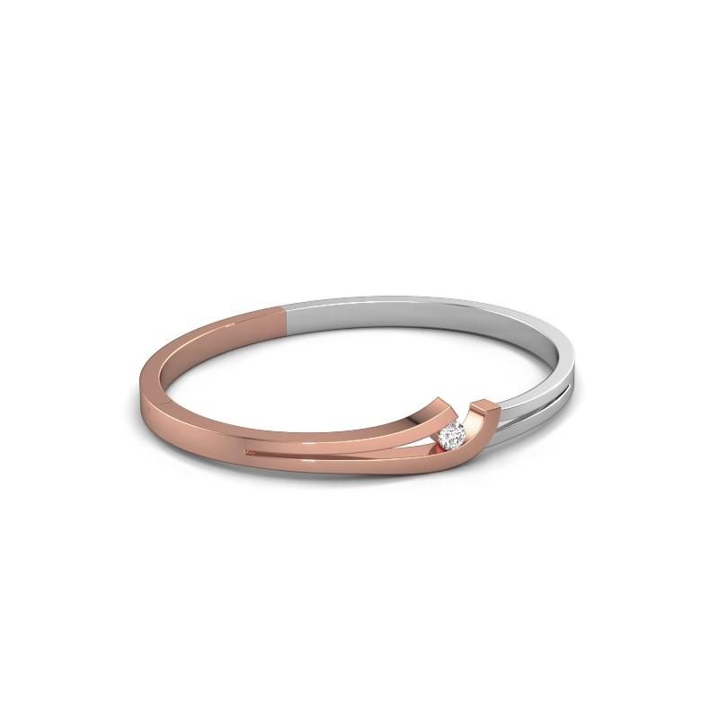 Slavenarmband Yentl 585 rosé goud diamant 0.25 crt