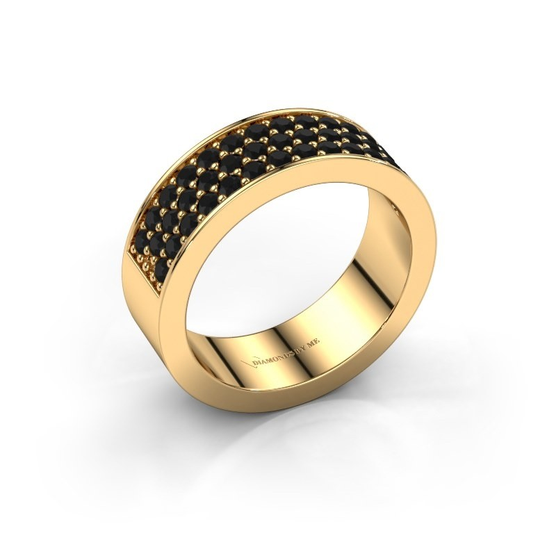 Ring Lindsey 6 375 goud zwarte diamant 0.984 crt