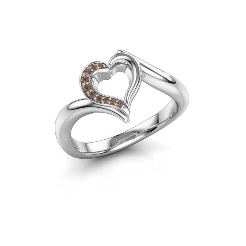 Ring Katlyn 950 Platin Braun Diamant 0.038 crt